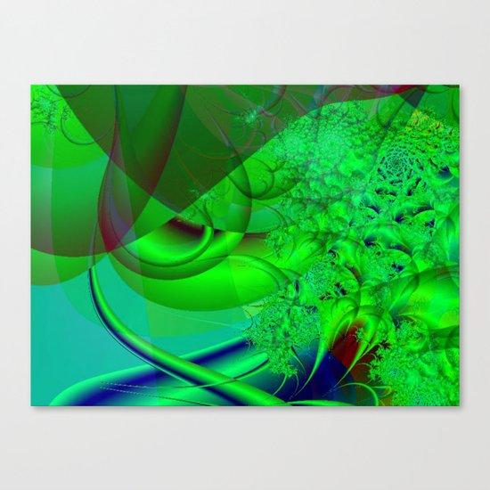 Abstract Green Algae Canvas Print