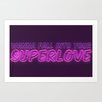 charli xcx Art Prints featuring SuperLove / Charli XCX by Justified