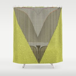 Light green and gray abstract Design Shower Curtain
