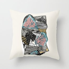 Cosmic geology Throw Pillow
