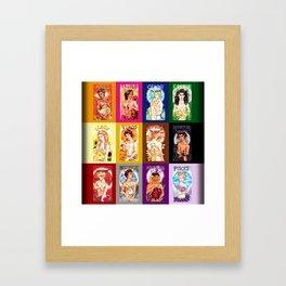 Zodiac Calendar Framed Art Print