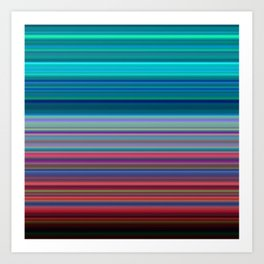 Blurry Saturn Stripes Art Print