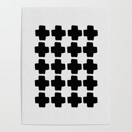 Black and White Abstract III Poster