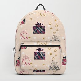 Festive design. Gifts . Backpack