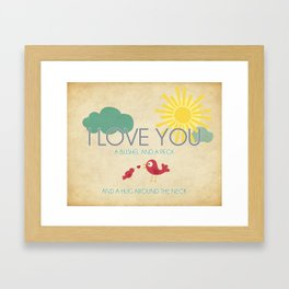 I Love You a Bushel and a Peck Framed Art Print