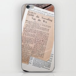 #259 Finding #Gold in an old #RecipeBook iPhone Skin
