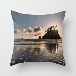 Second Beach Light and Current Throw Pillow