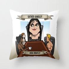 Gather Kinkiley (Keira Knightley) Throw Pillow