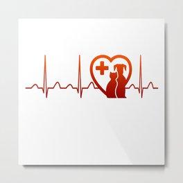 Vet Heartbeat Metal Print