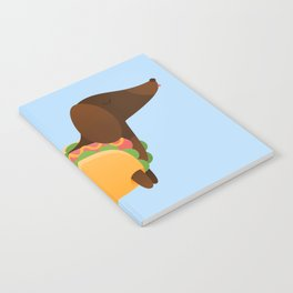 Wiener Dog in a Bun Notebook