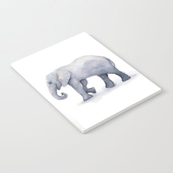 Elephant Watercolor Notebook