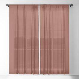 Brick Red, Solid Red Sheer Curtain