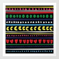 happy pattern Art Print