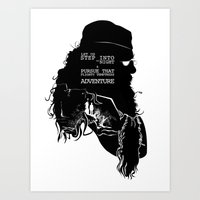 dumbledore Art Prints featuring Dumbledore - Quote Silhouette by GTRichardson