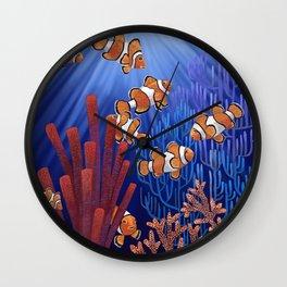 Clown Fish tank Wall Clock