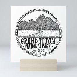 Grand Teton National Park Illustration Mini Art Print