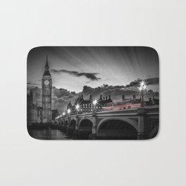 LONDON Westminster Bridge at Sunset | Colorkey Bath Mat