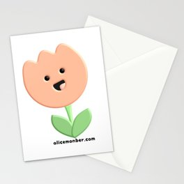 Cute Tulip Flower Stationery Cards
