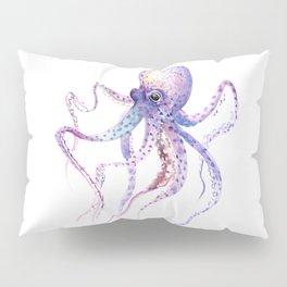 Octopus, soft purple pink aquatic animal design Pillow Sham