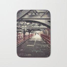 New York City Williamsburg Bridge Bath Mat