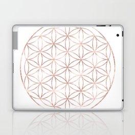 Mandala Rose Gold Flower of Life Laptop & iPad Skin