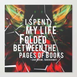 Folded Between the Pages Canvas Print