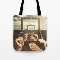 frame Tote Bags featuring Empty Frame by Seamless