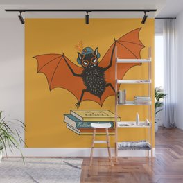 Bat granny book lover Wall Mural