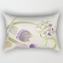 Atom Flowers #19 Rectangular Pillow