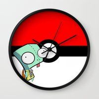 squirtle Wall Clocks featuring GIR Squirtle  by Diffro