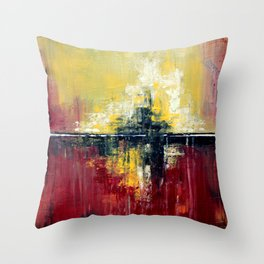 Shanghai - Textured abstract painting Throw Pillow