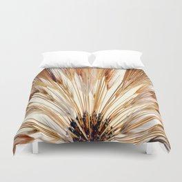 Wheat Sunburst Copper Duvet Cover