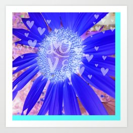 Hearts & Love Purple Fusion Art Print