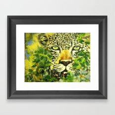 Wildlife Painting Series 3 - Leopard in preying pose Framed Art Print