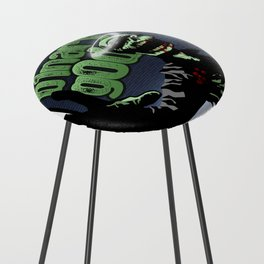 binarygod Zombie poster Counter Stool
