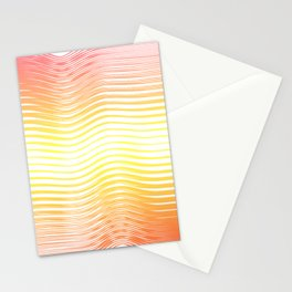 Boho abstract yellow orange summer Stationery Cards
