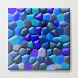 Blue Pebbles Metal Print