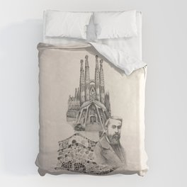 Tribute to Gaudi Duvet Cover