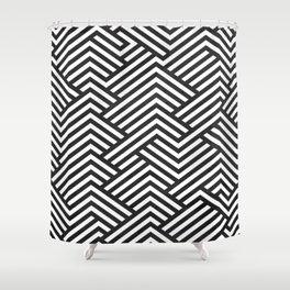 Bw Labyrinth Shower Curtain