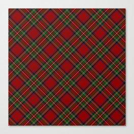 The Royal Stewart Tartan Stuart Clan Plaid Tartan Canvas Print