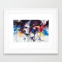 la Framed Art Prints featuring la nostra infinita abnegazione  by agnes-cecile