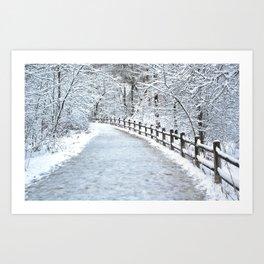 Snowfall at Brickworks on Christmas Day, 2020. LXXXIII Art Print