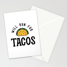 Will Run For Tacos v2 Stationery Cards