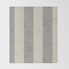 vintage gray stripes Throw Blanket