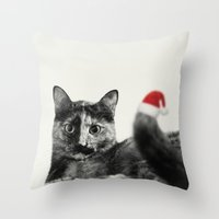 merry christmas Throw Pillows featuring Merry Christmas! by SensualPatterns