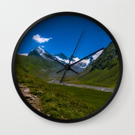 View of the glacier Wall Clock