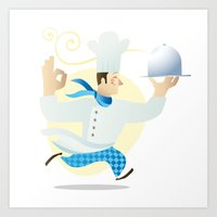 chef Art Prints featuring Chef by Dues Creatius