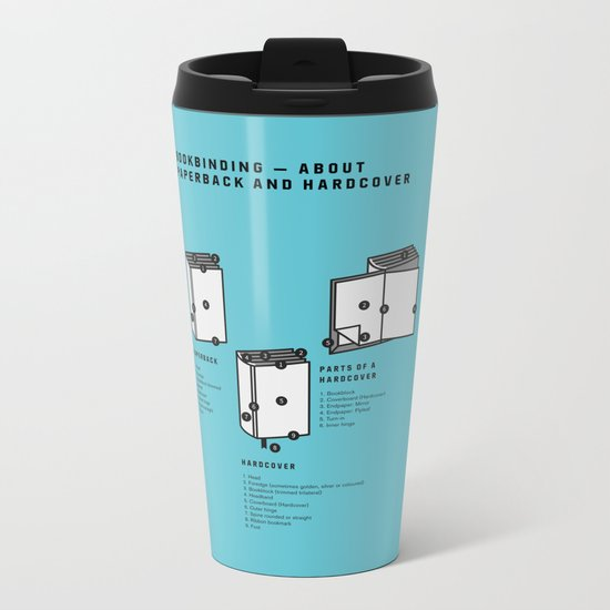 Bookbinding – About Paperback and Hardcover (in English) Metal Travel Mug