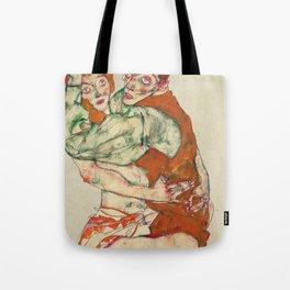 Egon Schiele - Lovemaking Tote Bag