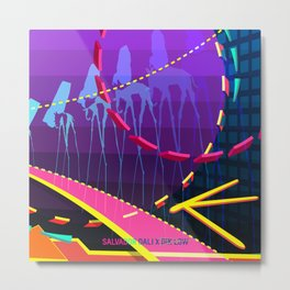 Salvador Dali x Dik Low (The Elephants) Metal Print